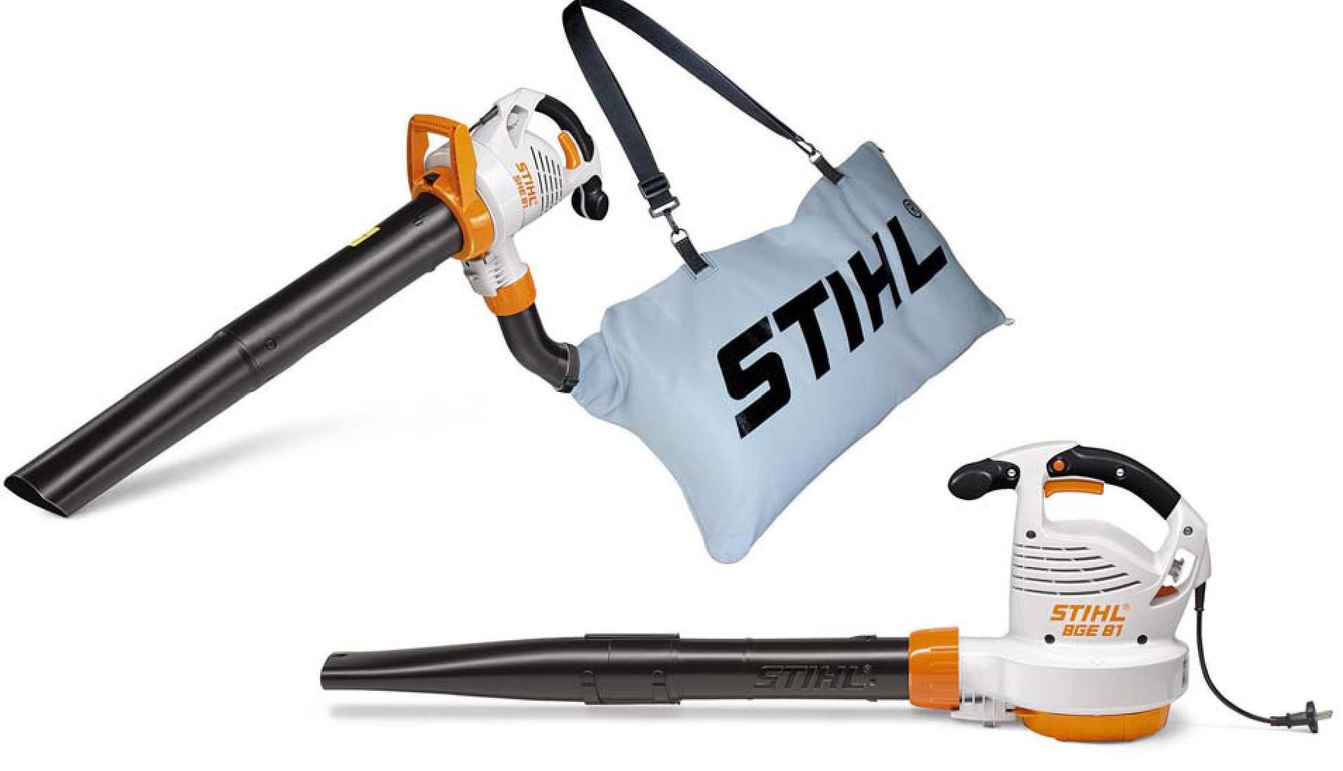 Stihl SHE 71 leaf blower with vacuum attachment